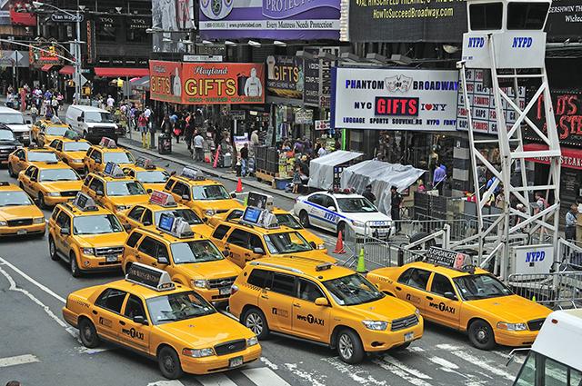 Такси в Нью-Йорке.