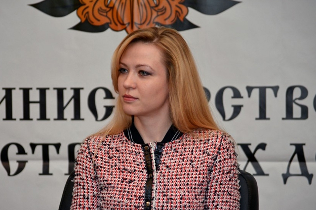 Исполняющая обязанности главы МИД Донецкой народной республики, участник политической группы по обсуждению Минских соглашений Наталья Никанорова.