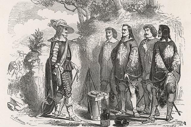 Мушкетёры и кардинал Ришелье.