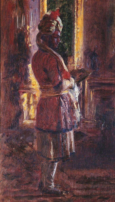 Портрет Мунши, созданный по заказу королевы Виктории, 1887 год.