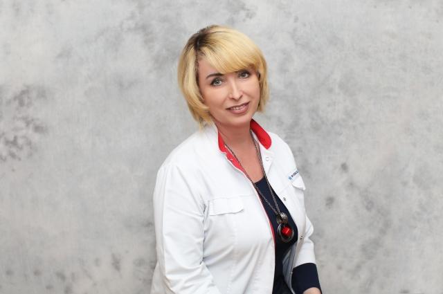 Заведующая патоморфологическим отделом Клинического диагностического центра, врач-патологоанатом высшей категории, к. м. н. Татьяна Васькина.