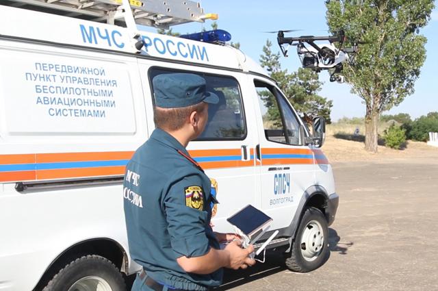 Для мониторинга пожарной обстановки запустили беспилотники МЧС.