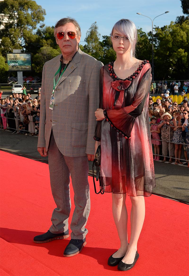 Актер Михаил Ефремов с дочерью Анной Марией. 2016 г.
