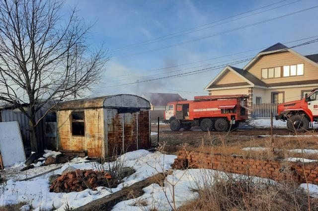 После пожара в вагончике найдено тело погибшего мужчины