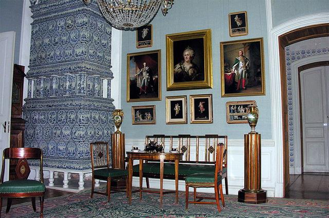 Уголок Зубова в Рундальском дворце