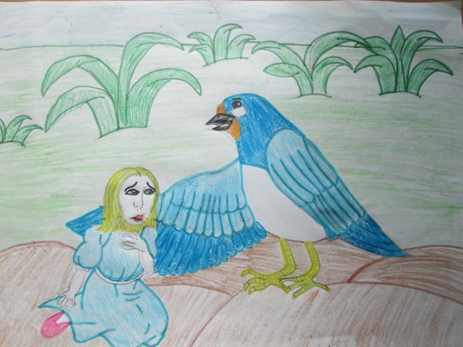 Рисунок отражает то, что на душе у ребенка.