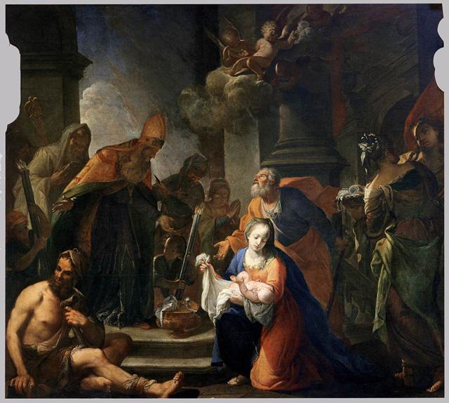 Сретение. Андреа Селести. 1710.