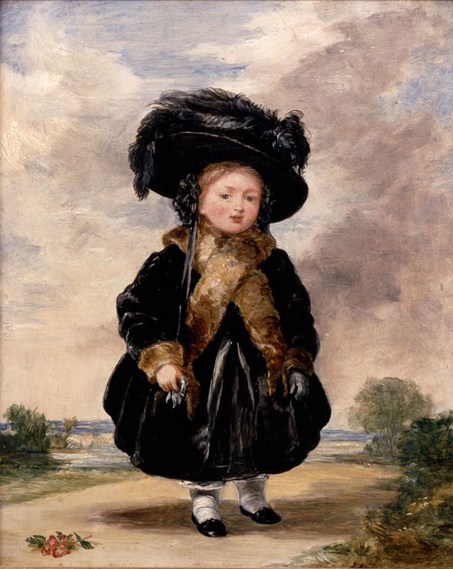 Королева Виктория в четыре года.