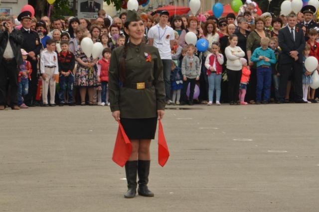 «Маруся»-регулировщица «оживает» на мероприятиях, посвященных ВОВ.