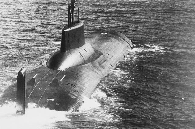 Советская атомная подводная лодка типа Акула (SSBN Typhoon )