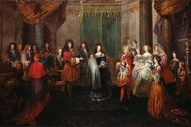 Рождение герцога Бургундского (2-го сына Людовика и Марии Терезии) в Версале 6 августа 1682 г.