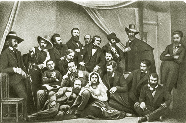 Николай Гоголь в группе русских художников в Риме. 1845 год