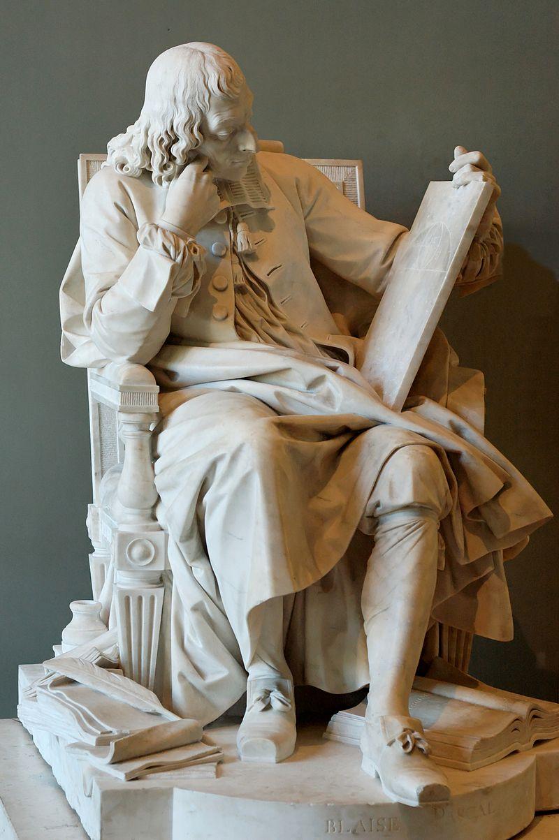 Огюстен Пажу, скульптура Блеза Паскаля.