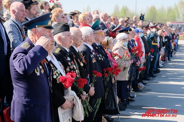 Парад Победы в Перми в 2021 году.