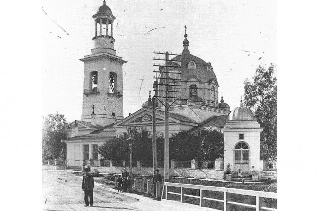 Церковь князя Александра Невского в Усть-Ижоре. Фото 1900-х годов.