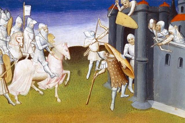 Осада Иерусалима (1099),миниатюра XV век
