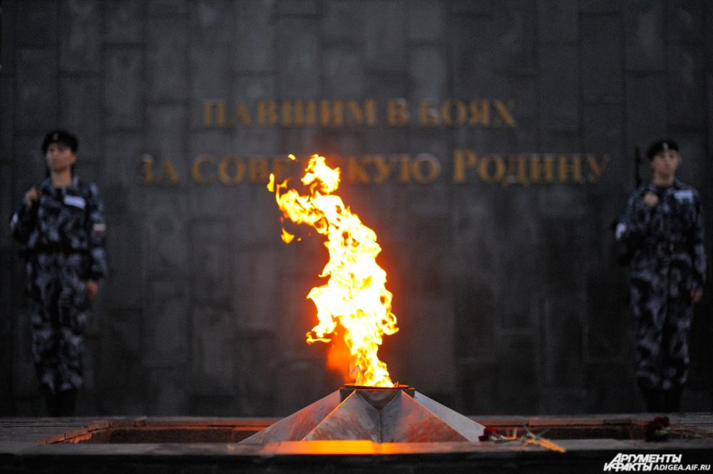 Мемориал памяти павшим в Майкопе.