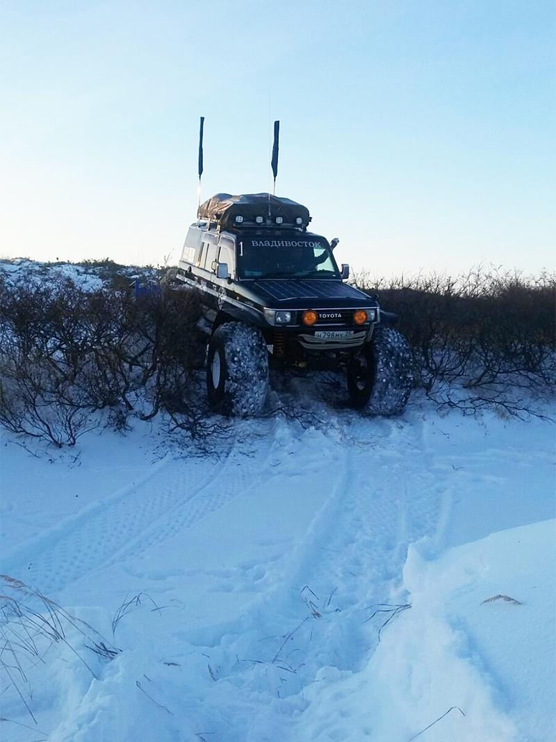 Из Магадана выехали 16 января. В Петропавловске экипаж встречали 8 февраля.