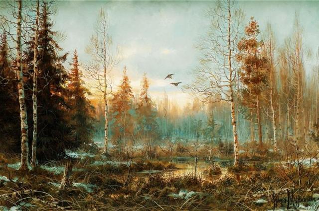 Владимир Муравьев был талантливым художником, умевшим мастерски передавать сумерки, свежесть утреннего леса и тишину прогулок.