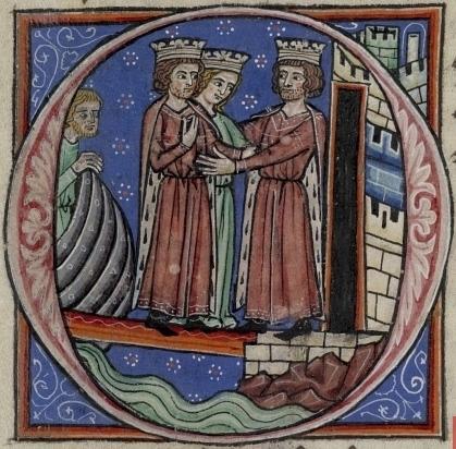 Ричард Львиное Сердце и Джоанна встречают короля Франции Филиппа II Августа