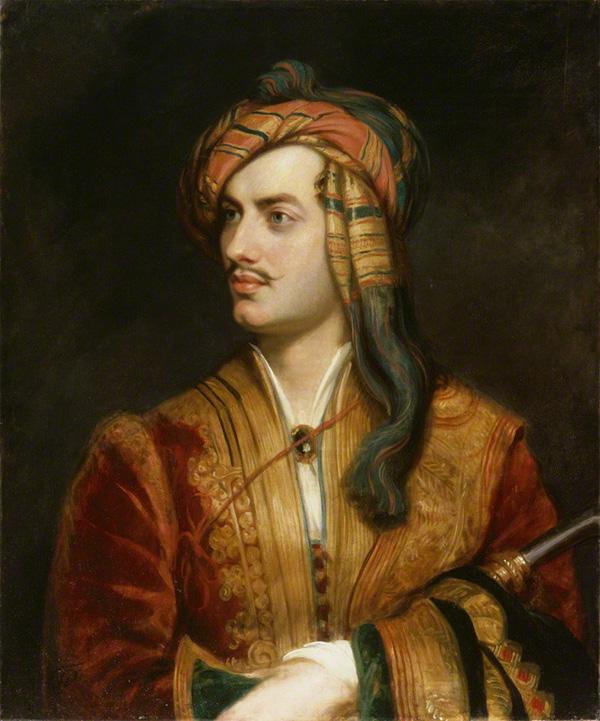 Лорд Байрон во время войны в Греции. Картина Т. Филлипса.