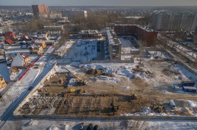 Строительная площадка по состоянию на февраль 2018 года.