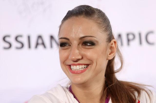 Российская гимнастка Евгения Канаева.