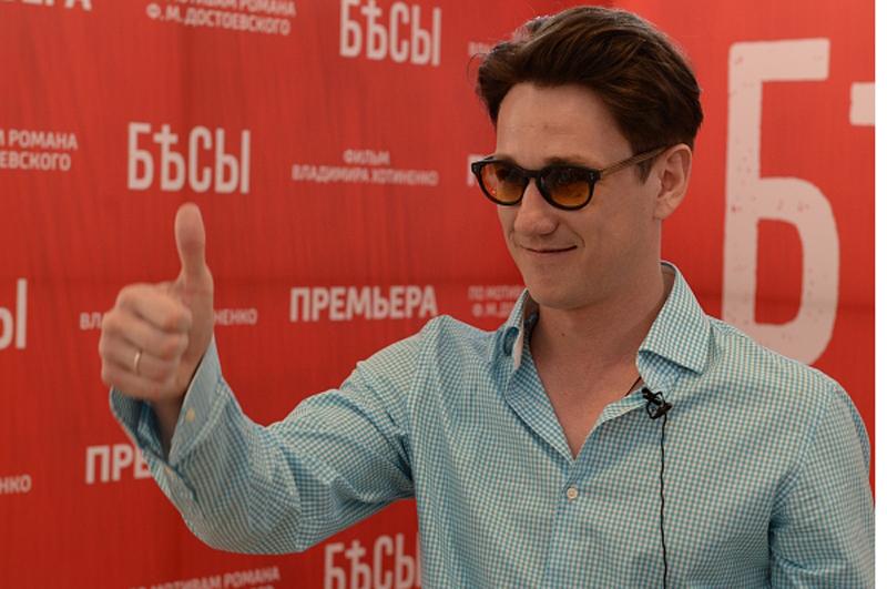 Антон Шагин во время закрытой премьеры первых серий телевизионного фильма Владимира Хотиненко Бесы