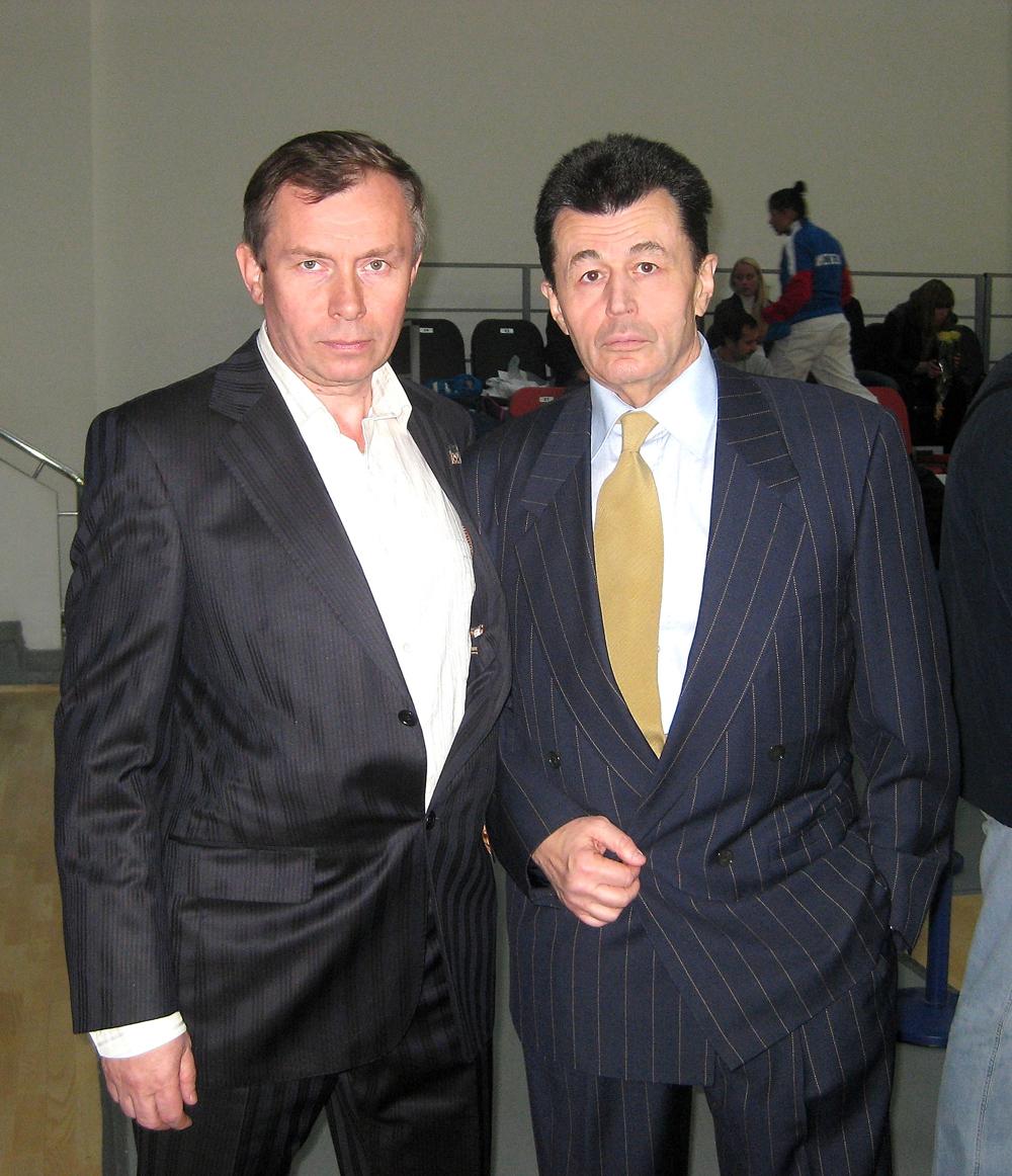 А. Штурмин и первый чемпион Центральной школы каратэ В. Рыбкин. 2020 г.