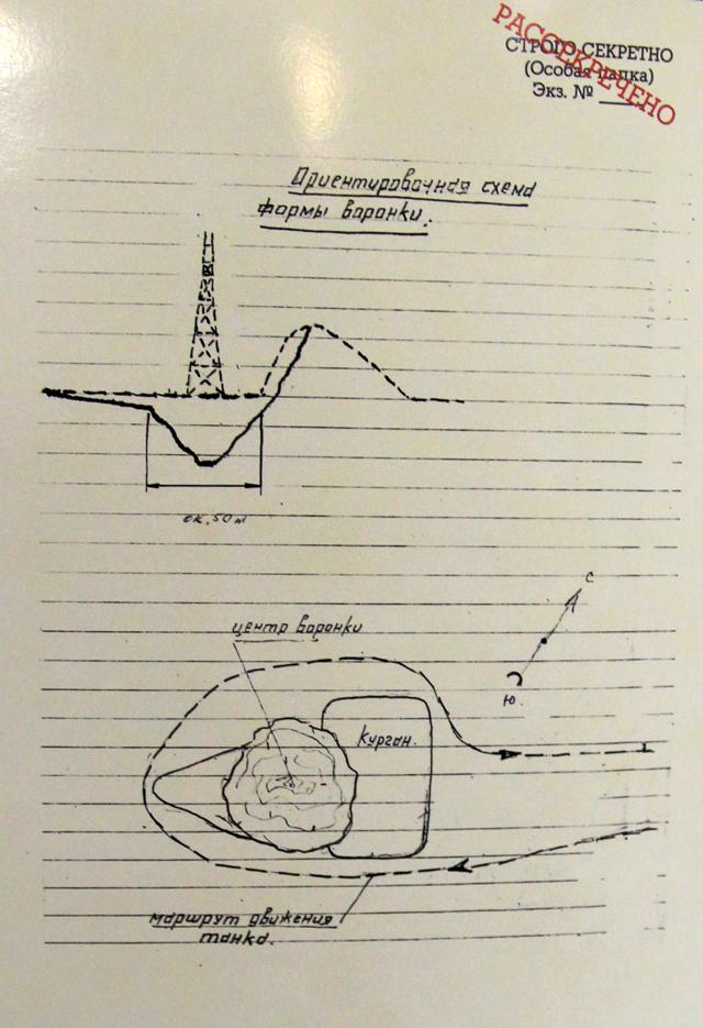 Один из чертежей разработчиков первой атомной бомбы СССР