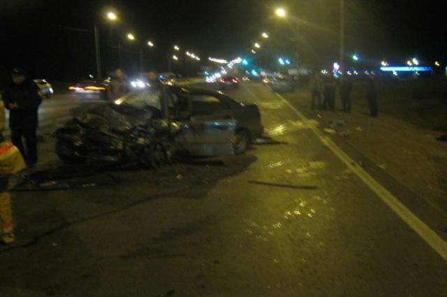 Страшная авария произошла в Рыбновском районе.