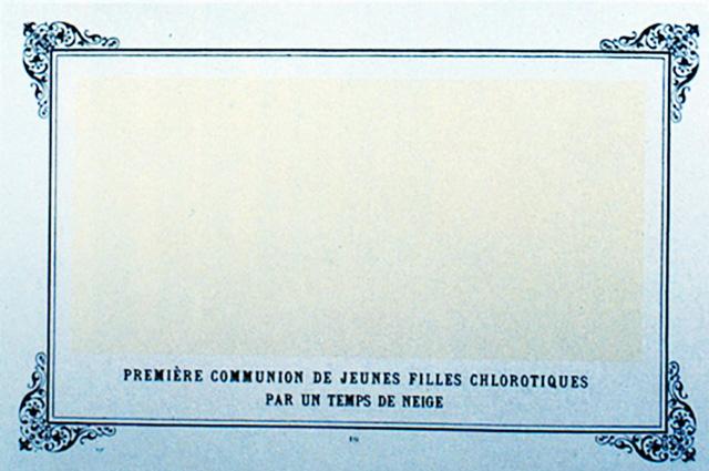 Альфонс Алле,  «Первое причастие страдающих анемией девушек в снежную пору», 1883 г