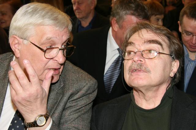 Олег Басилашвили и Александр Адабашьян.