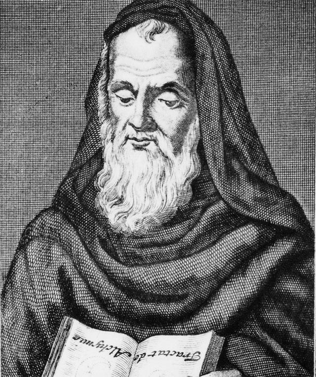 Естествоиспытатель монах Роджер Бэкон.