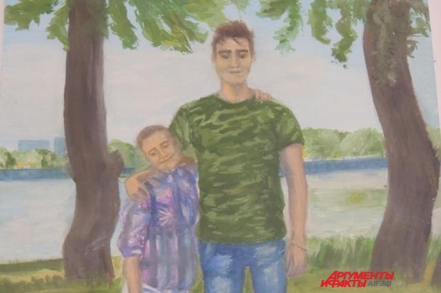 Таким запомнили Илью его друзья. Это рисунок его девушки.