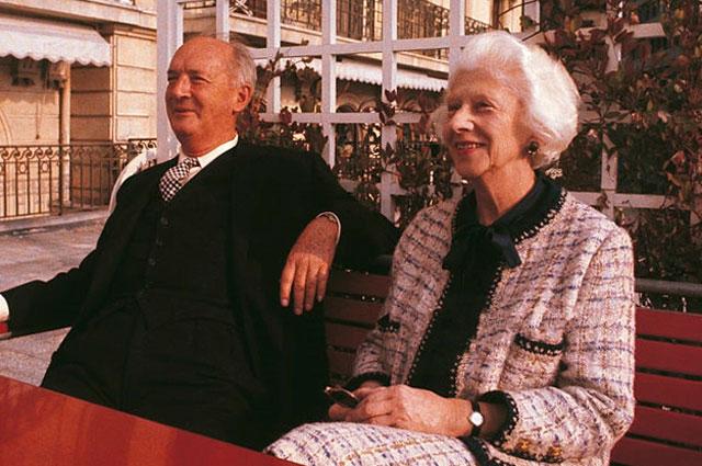 Владимир Набоков с супругой Верой, 1969 г.