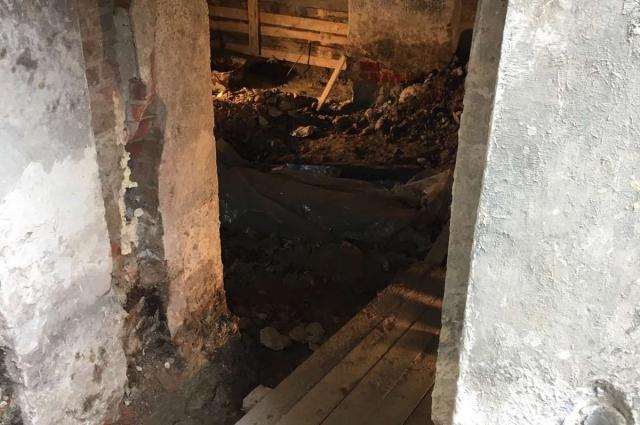 Обнаруженное захоронение в Спасской церкви.