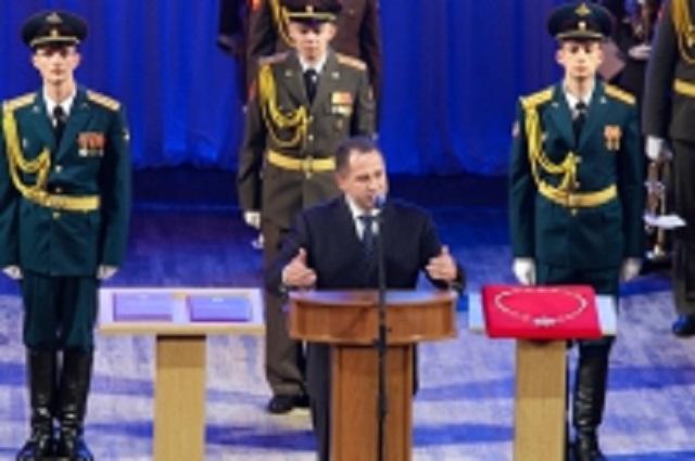 Михаил Бабич на присяге Пензенского губернатора