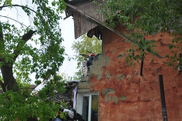 обрушение дома в Омске