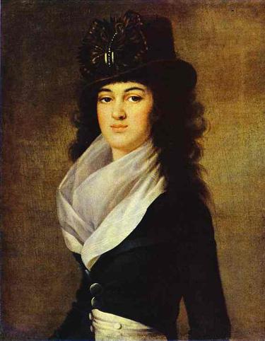 Портрет Лопухиной работы Жан Луи Вуаля.