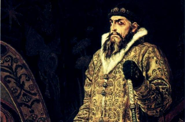 Идея создания портрета Ивана Грозного пришла к художнику после переезда в Москву в 1878 году. Фрагмент картины.