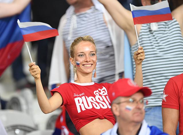Болельщики сборной России по футболу на Евро-2016