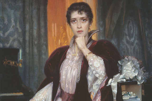 Анна Каренина на картине Г. Манизера. Не позднее 1925 года.