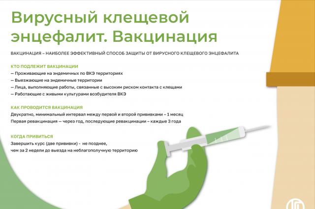 Прививка от энцефалита.