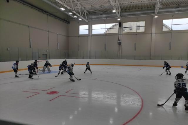 Тренировки хоккеистов проходят сразу на нескольких площадках.