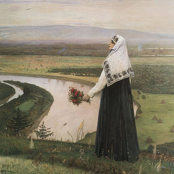 На горах. Картина Михаила Нестерова.