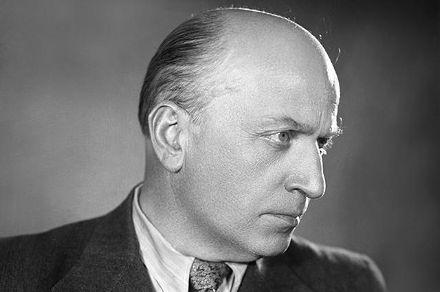 Советский кинорежиссер, актер Михаил Чиаурели, 1960 год.