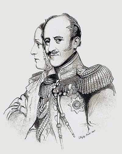 Бенкендорф с женой Елизаветой Андреевной