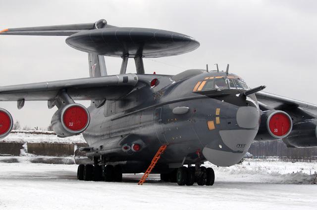 Новейший А-50 У с бортовым номером 33. Если более старые самолеты видят цель за 400 километров, то этот за 600