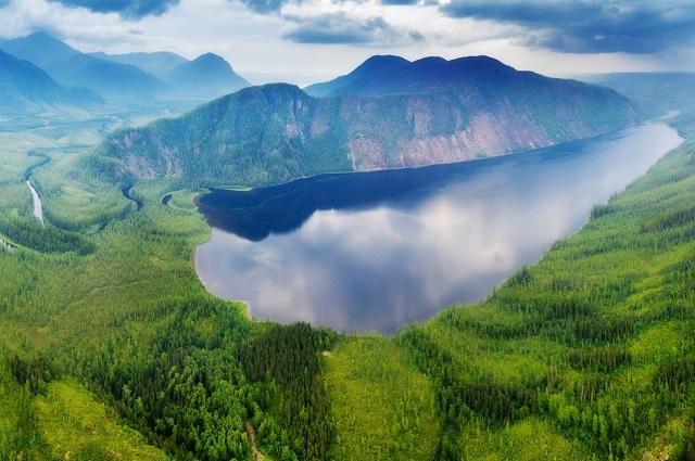 Панорама озера Малое Токо.